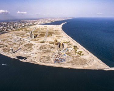 An aerial image of Eko Atlantic City