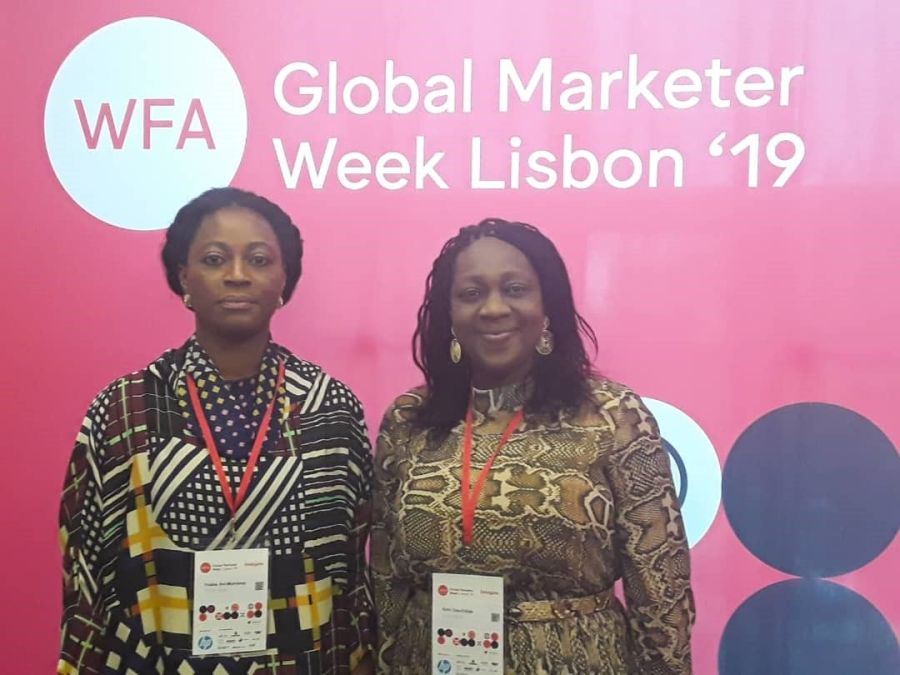 Folake Ani-Mumuney, President, Advertisers Association of Nigeria (ADVAN) and Ediri Ose Ediale, ADVAN at the World Federation of Advertisers Conference held recently in Lisbon, Portugal.