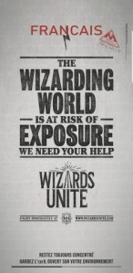 L'affiche du jeu Harry Potter Wizards Unite