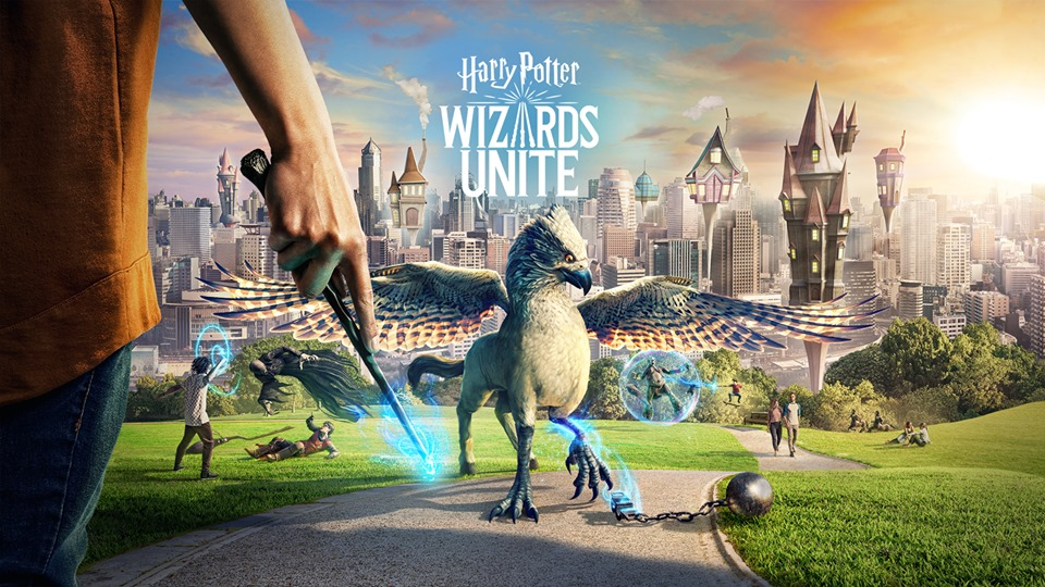 Une affiche du jeu Harry Potter : Wizards Unite