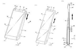 Le croquis du futur smartphone étirable
