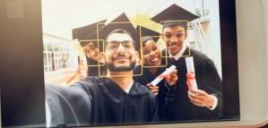 Rekognition, appliquée à des diplômés qui se prennent en selfies