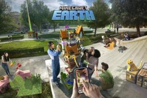 L'univers du jeu de Minecraft Earth de Microsoft