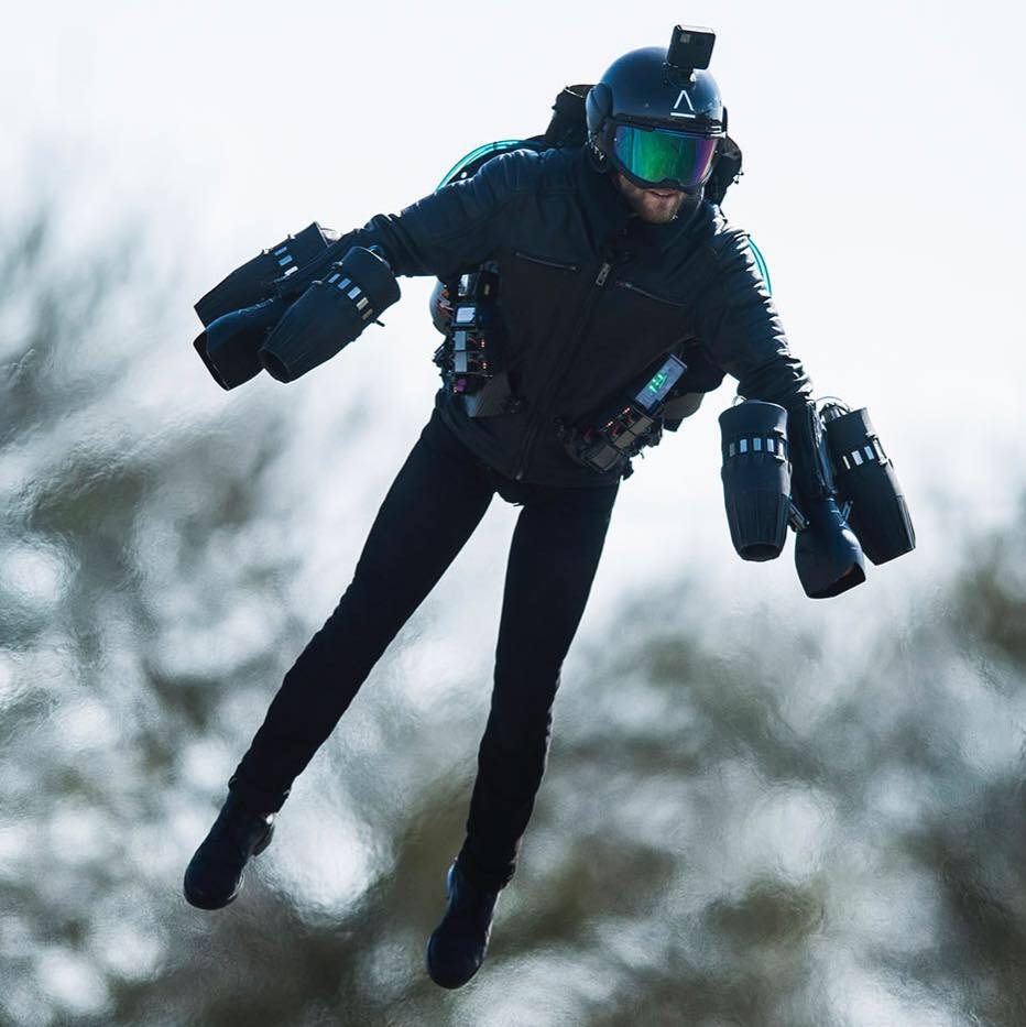 Le Jet Suit de Gravity Industries en action (Photo : Gravity Industries).