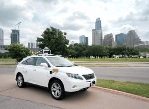 Testfahrzeug in Austin