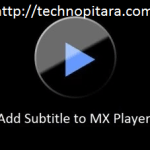 How to add Subtitle to MX Player in android