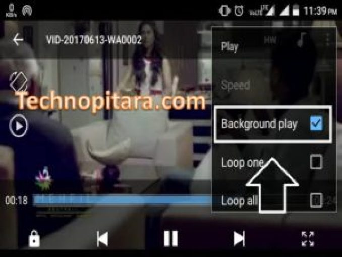 Android video background activity