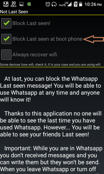 Block Last Seen at Boot Phone too