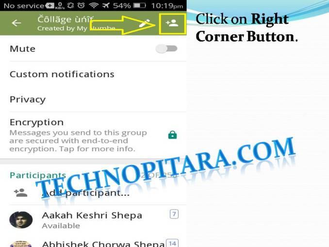 Click on Right Corner Button.