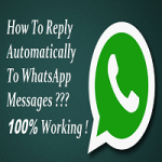 Auto reply on whatsapp text messages