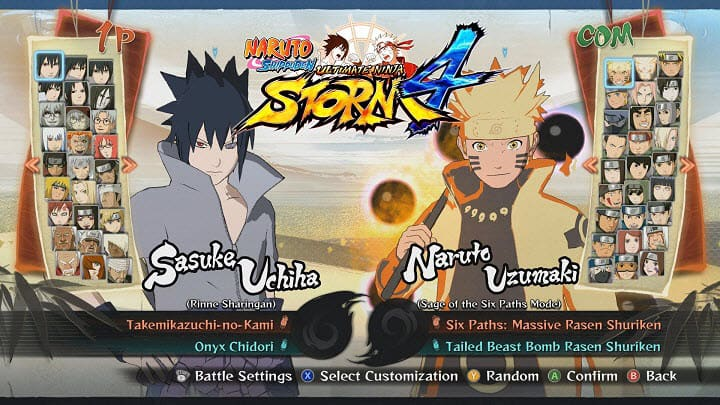 Naruto Shippuden Ultimate Ninja Storm 4 PPSSPP ISO Download