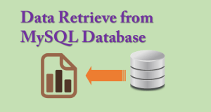 data retrieve from mysql database using php