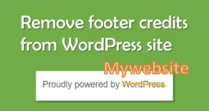 Remove footer credits in wordpress website