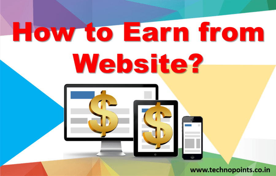 how to earn from website