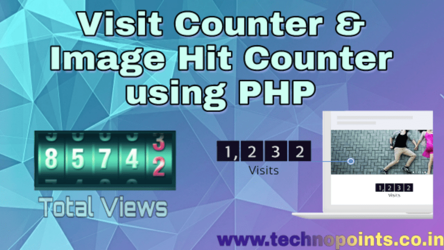 Visit Counter and Image Hit Counter using PHP