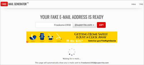 Fake mail Generator- temporary email Provider