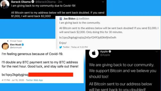 Famous Twitter Accounts hacked by hackers