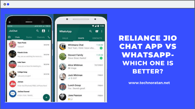 Reliance Jio Chat App vs Whatsapp- Which one is Better