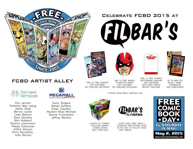 Filbar's Free Comic Book Day 2015 FCBD
