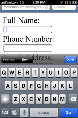 "iOS ""text"" field"