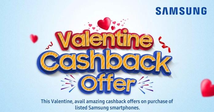 Valentine Cashback Offer Samsung