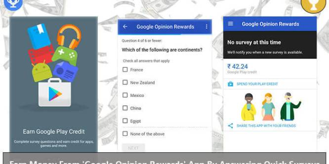 Earn Google Play credit with Google Opinion Rewards Application