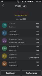 auntutu benchmark for lenovo a6000