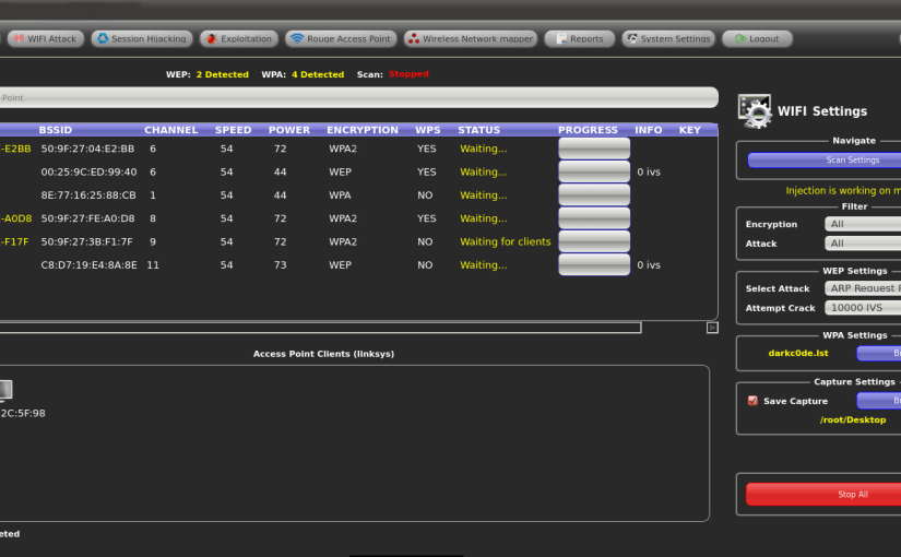 fern-wifi hacking tool