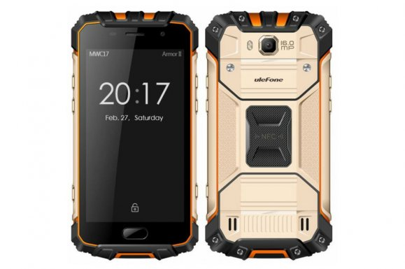Front and Back of Ulefone Armor 2