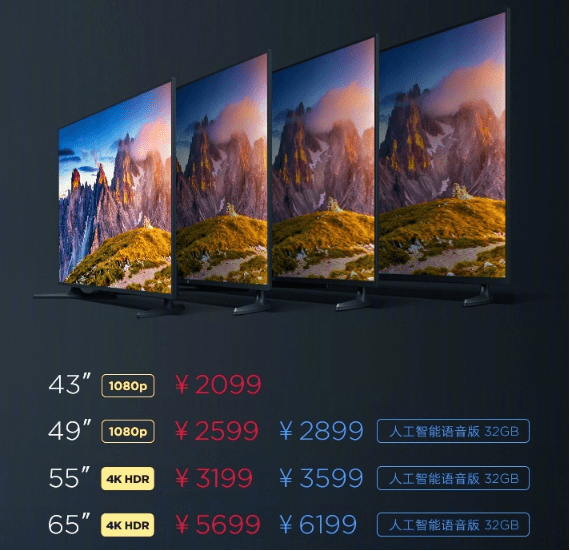 Prices of Xiaomi Mi TV 4A