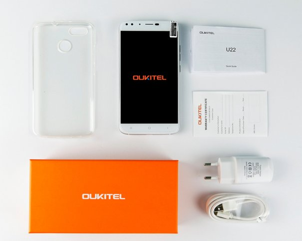 Box Accessories of Oukitel U22 3G Smartphone!