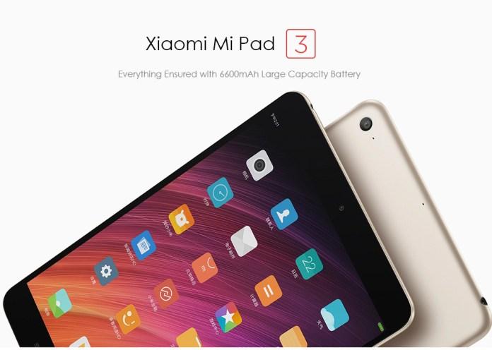 Xiomi Mi pad 3 tablet PC