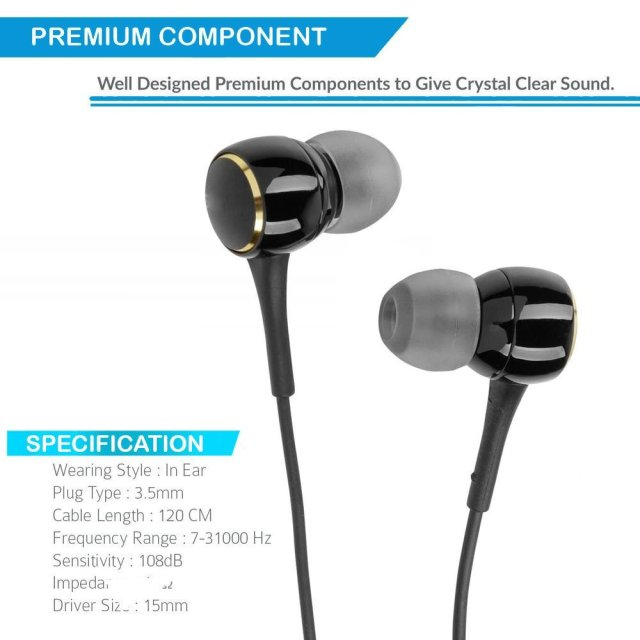 Amore In-Ear Headphone With Mic