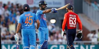 India won the 1st T20 match against England by 8 wickets