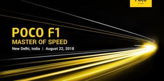 Xiaomi's POCO F1 Is All Set To Launch on August 22.