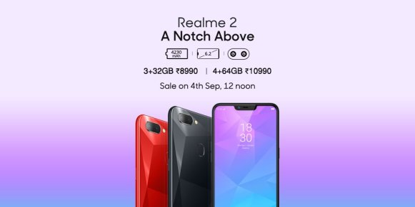 Realme 2 launched in India under Rs.10,000   See Specifications, Price and Availability.