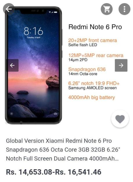 Xiaomi Redmi Note 6 Pro Global version with Notch goes on sale before launch