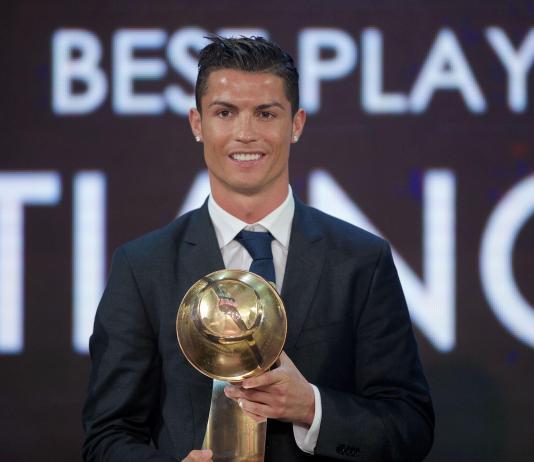 cristiano ronaldo at the globe soccer awards 2019