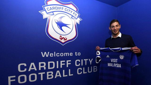 Cardiff City's record signing Emiliano Sala is missing