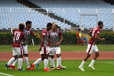 Mohun Bagan returned to winning ways under the guidance of Khalid Jamil after beating Minerva Punjab 2-0 at home ground.