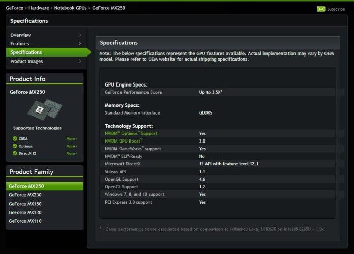 NVIDIA announces new GeForce MX250, GeForce MX230 entry level graphics for laptops