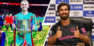 Andre Gomes and Jasper Cillessen