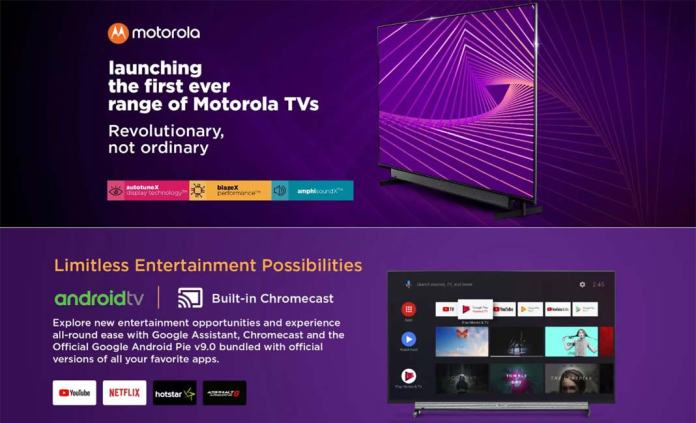 Motorola launches Android Smart TVs in India starting from Rs.13,999