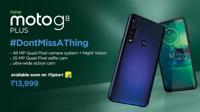 Moto G8 Plus launched with Snapdragon 665 & 48MP triple Camera at Rs 13,999