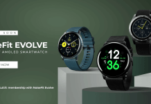 IP68 rated NoiseFit Evolve Smartwatch with AMOLED display & heart rate sensor launched at Rs.5499
