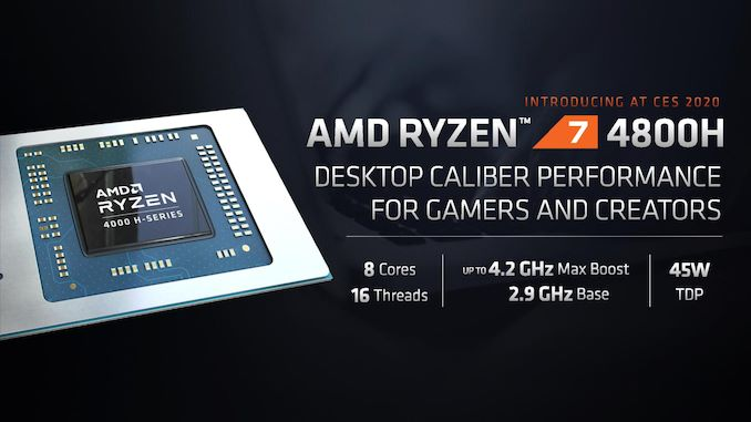 CES 2020: AMD Ryzen 4000H gaming processors with up to 8 cores/16 threads launched