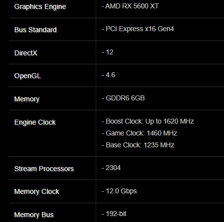 ASRock accidentally leaks the upcoming AMD RX 5600 XT specs