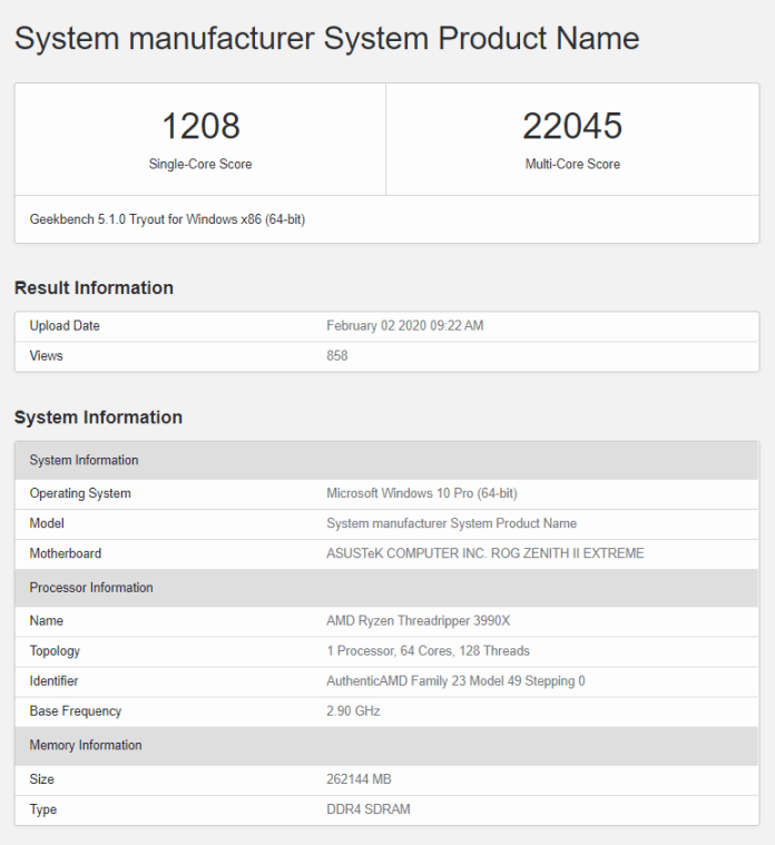 AMD Ryzen Threadripper 3990X's Geekbench multi-core score frightens every HEDT CPU out there