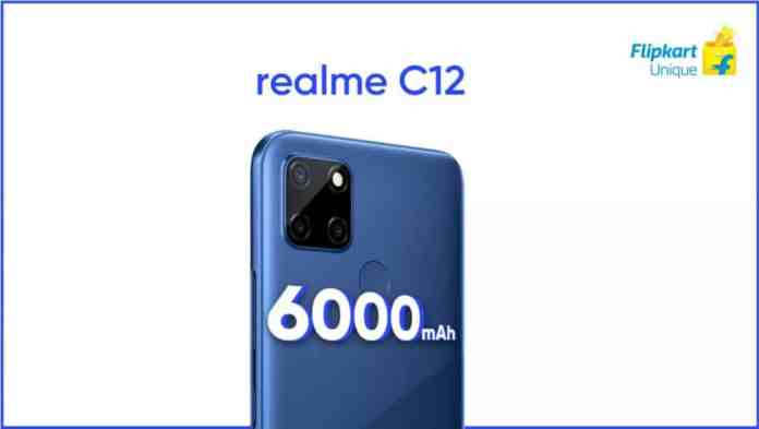 Realme C12 teased to launch in India on 18th August via Flipkart