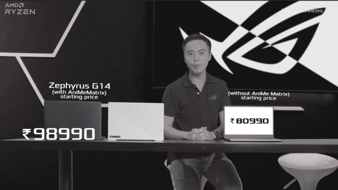 Asus ROG Zephyrus G14 with up to AMD Ryzen 9 4900HS & RTX 2060 Max-Q starts at ₹ 80,990